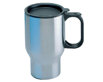 LITEOPTEC MUG AUTOBECHER STAINLESS STEEL DBL WALL WITH LID